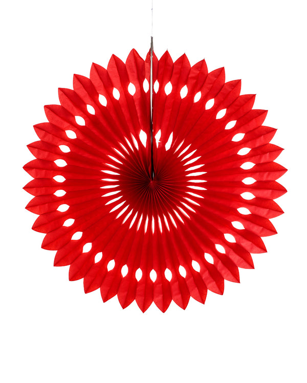 Large Red Fan