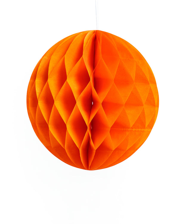 Large Orange Honeycomb Ball
