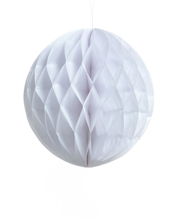 Large White Honeycomb Ball