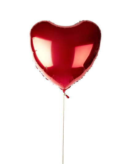 red jumbo heart balloon