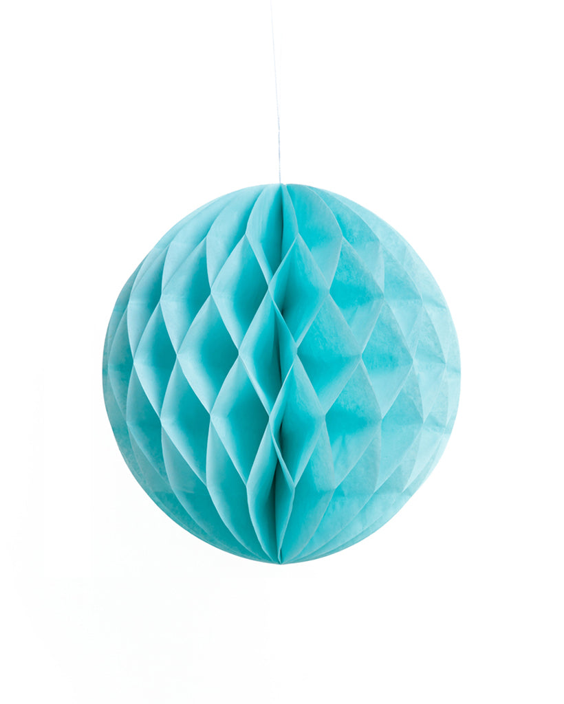 Medium Light Blue Honeycomb Ball