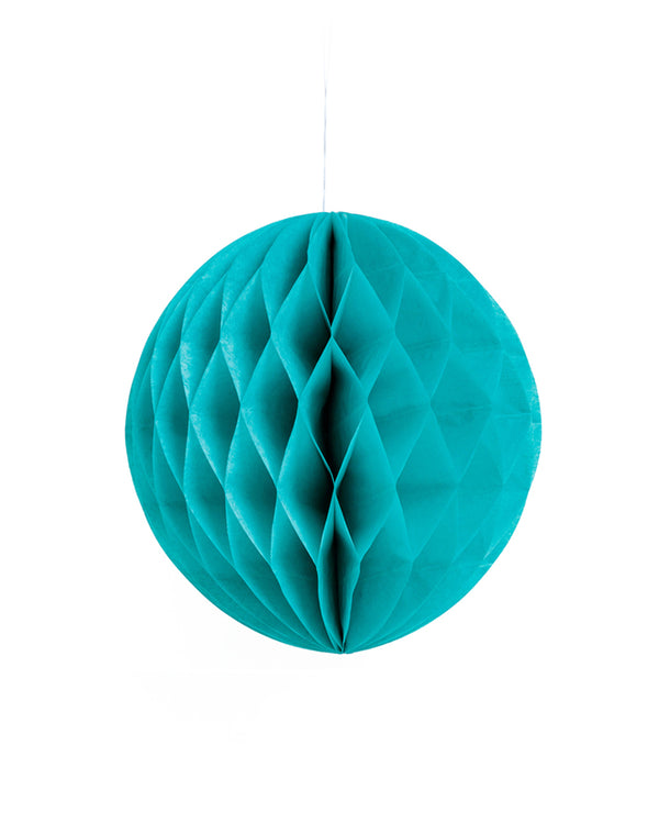 Medium Teal Honeycomb Ball