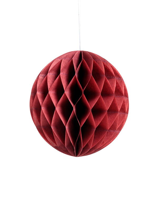 Medium Burgundy Honeycomb Ball