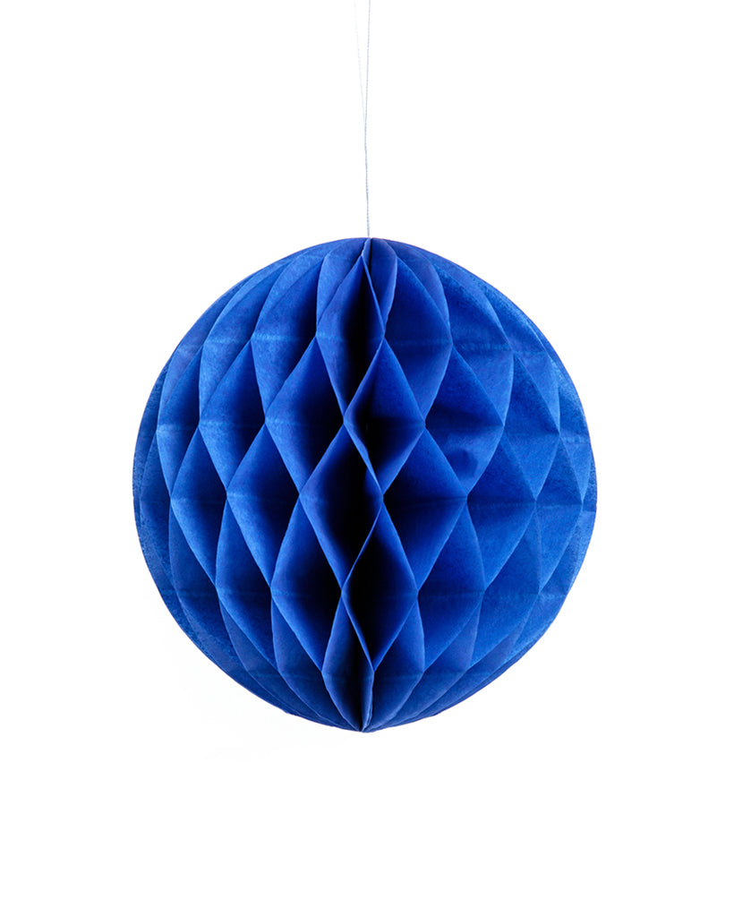Medium Navy Blue Honeycomb Ball