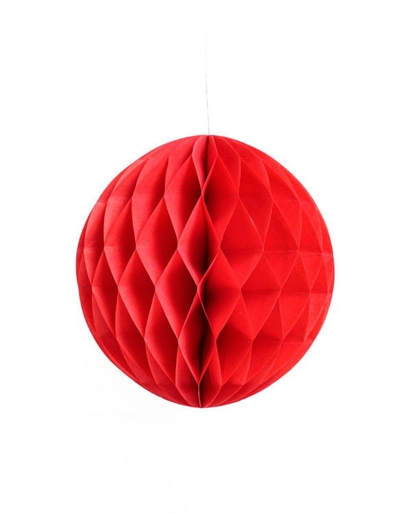 Medium Red Honeycomb Ball