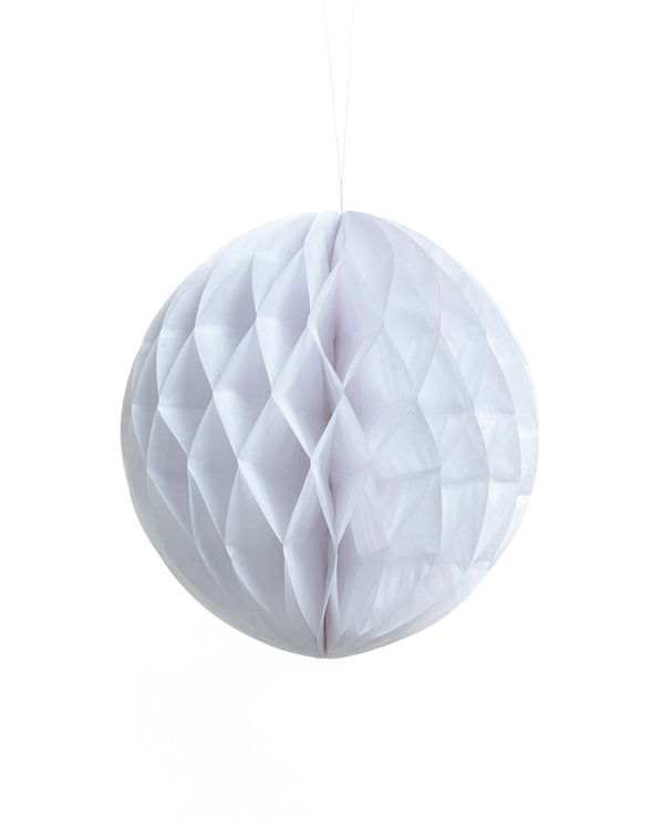Medium White Honeycomb Ball