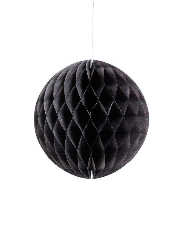 Medium Black Honeycomb Ball