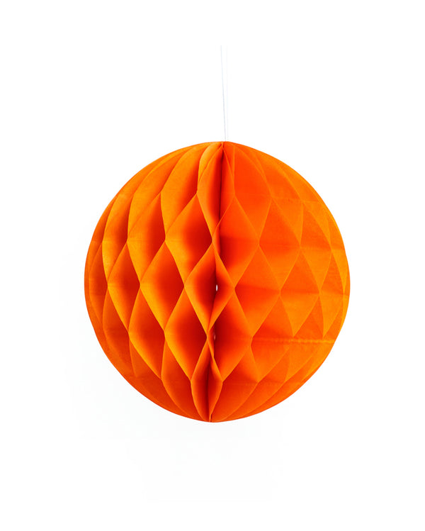 Medium Orange Honeycomb Ball