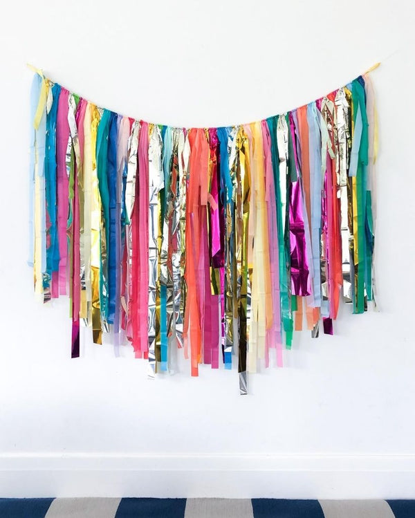 Metallic Rainbow Streamer Garland