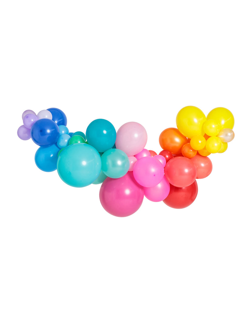 Medium Rainbow Balloon Garland Inflated