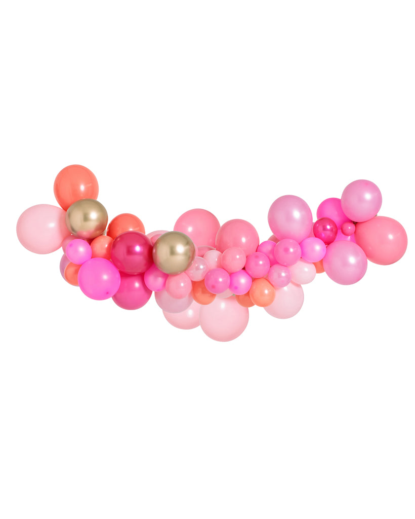Medium Pink Shimmer Balloon Garland Inflated