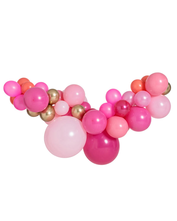 Large Pink Shimmer Balloon Garland Inflated