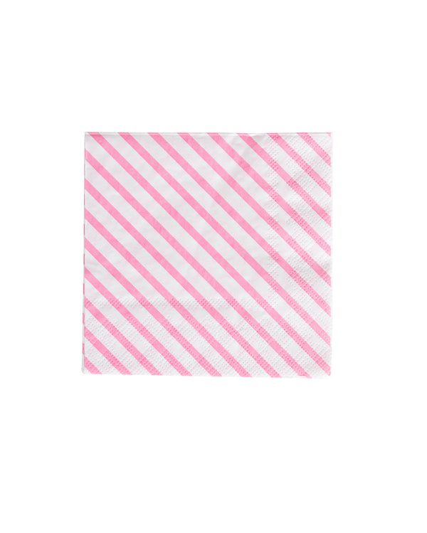 Oh Happy Day Neon Rose Stripe Napkins