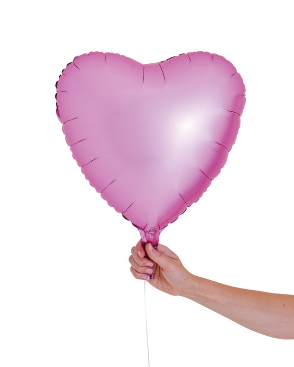 Matte Pink Heart Balloon