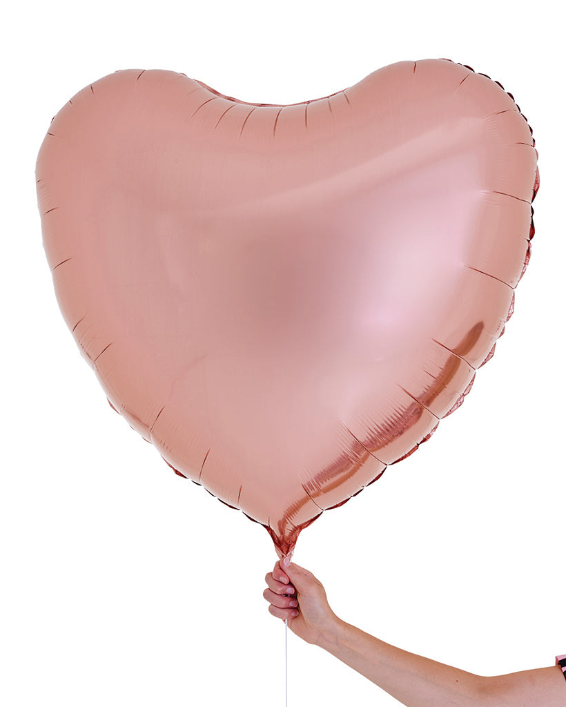 Rose Gold Jumbo Heart Balloon Filled with Helium