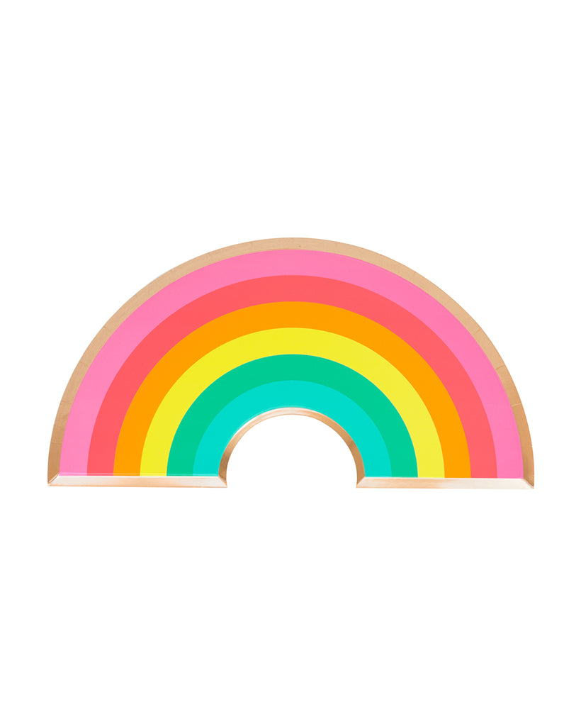 Oh Happy Day Rainbow Plate Set