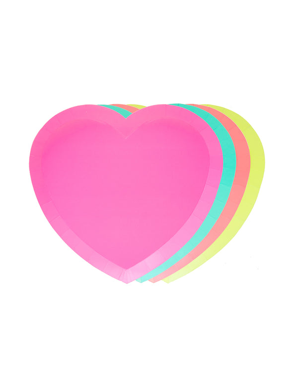 Oh Happy Day I Heart Neon Plate Set