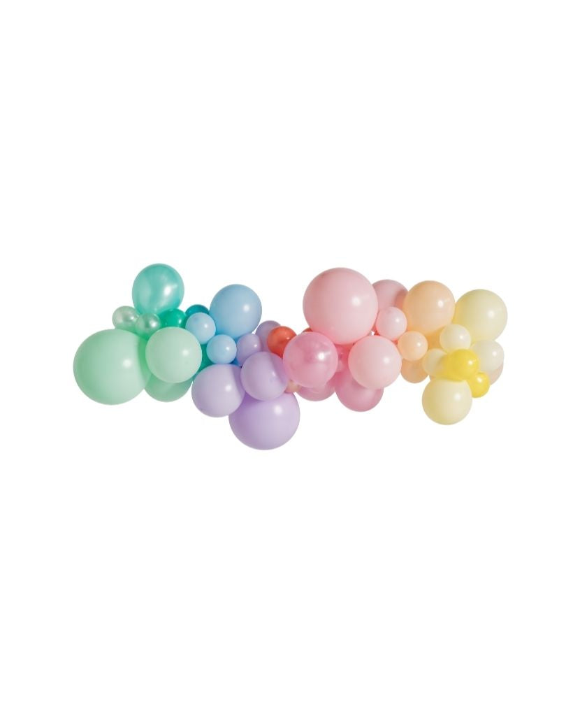 Medium Pastel Rainbow Balloon Garland