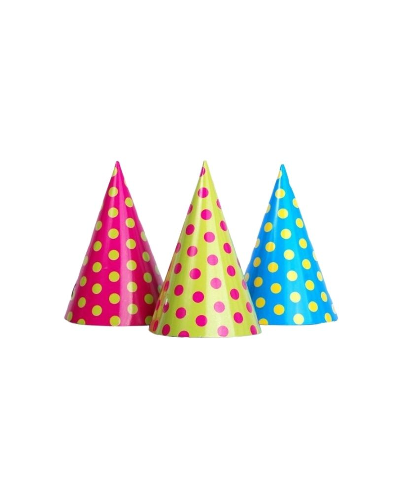 Polka Dot Mix Party Hats