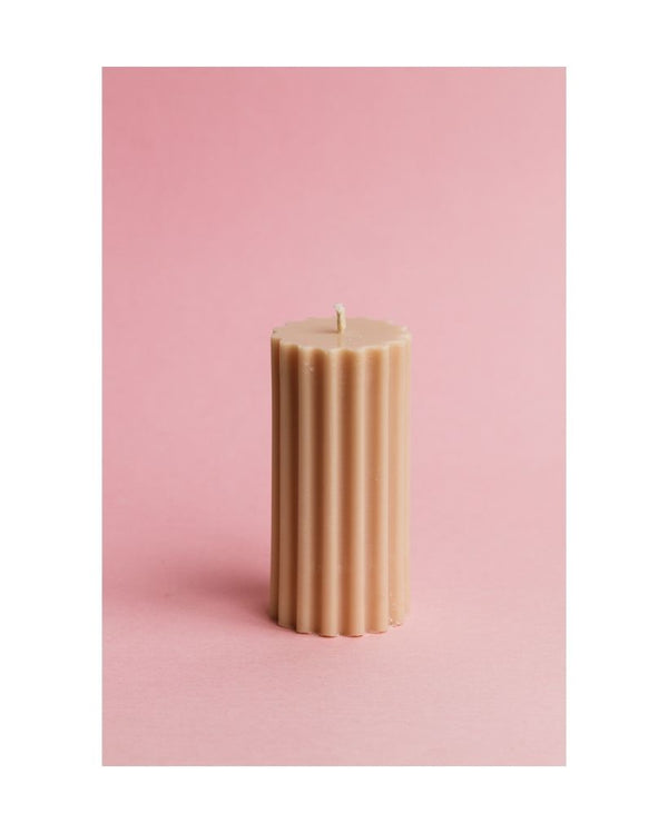 Pumpkin Pillar Dinner Table Candle