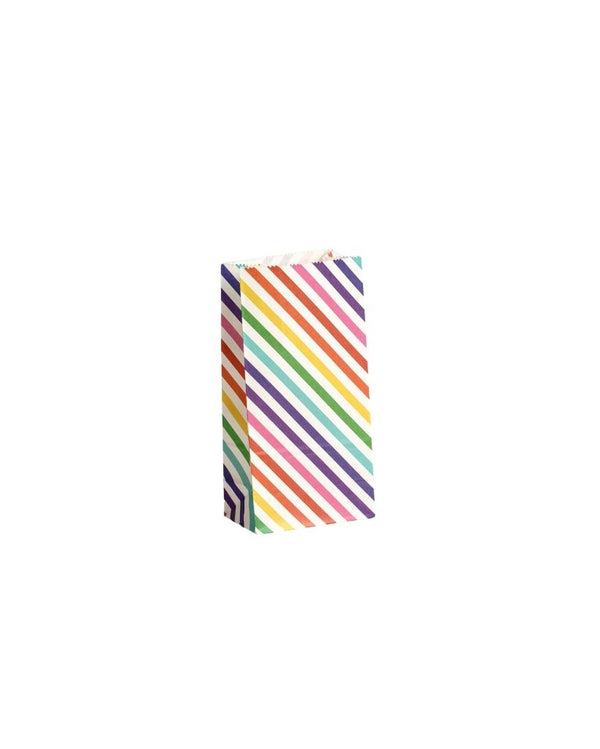 Rainbow Stripe Lolly Bags 10 Pack