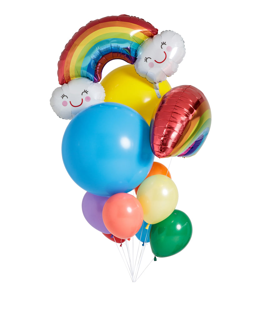 Rainbow Balloons Filled with Helium