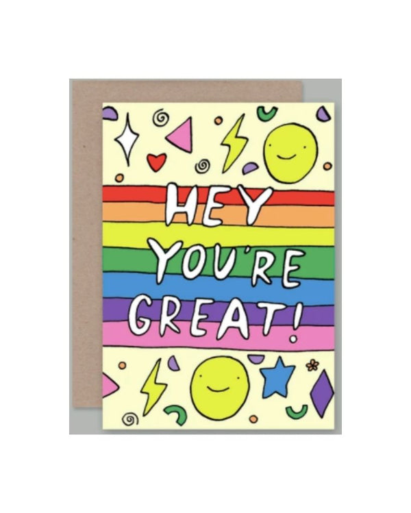 Hey You're Great! Card