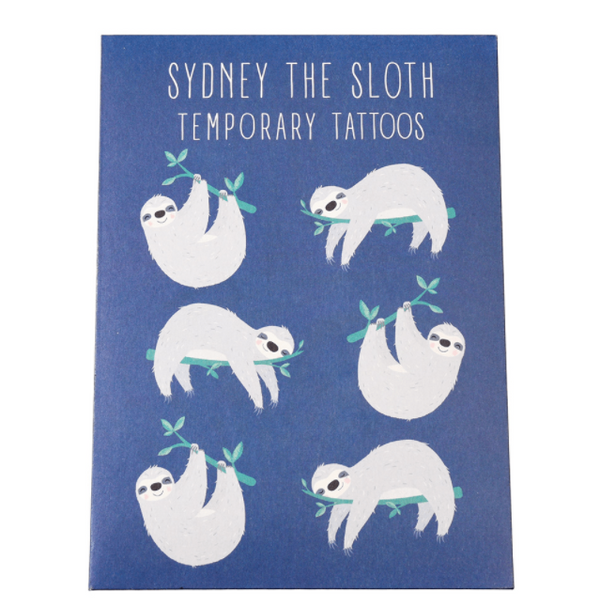 Sydney the Sloth Temporary Tattoos