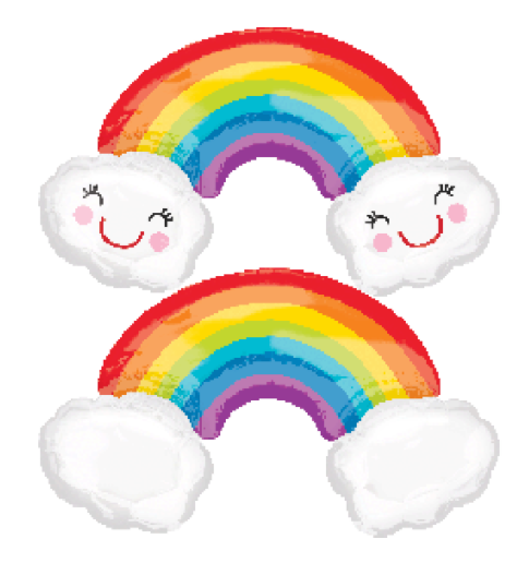 Rainbow Clouds Foil Balloon