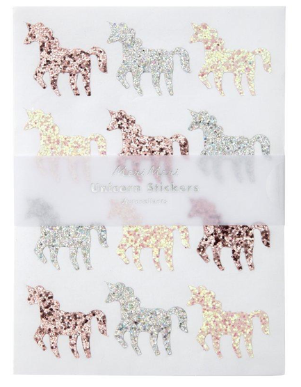 Glitter Unicorn Stickers
