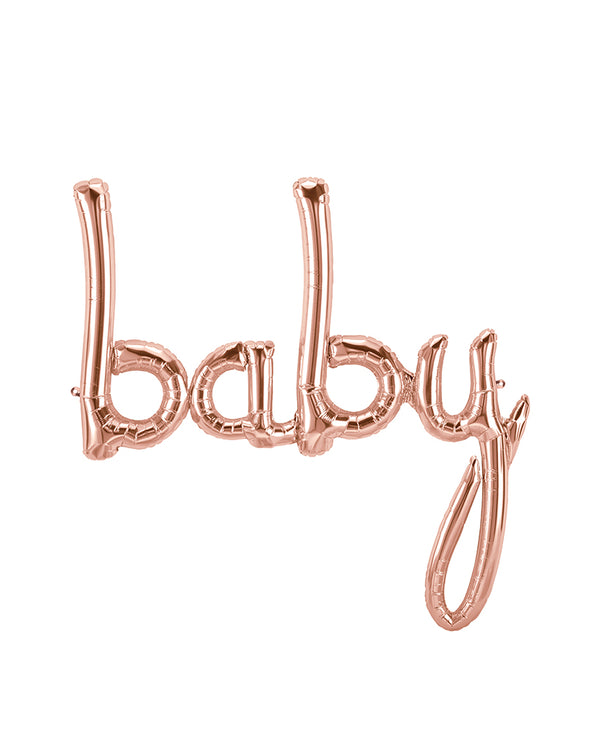 Rose Gold Baby Balloon