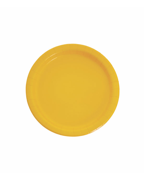Small Yellow Paper Plates