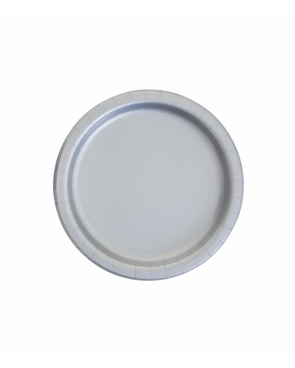 Small Silver Paper Plates