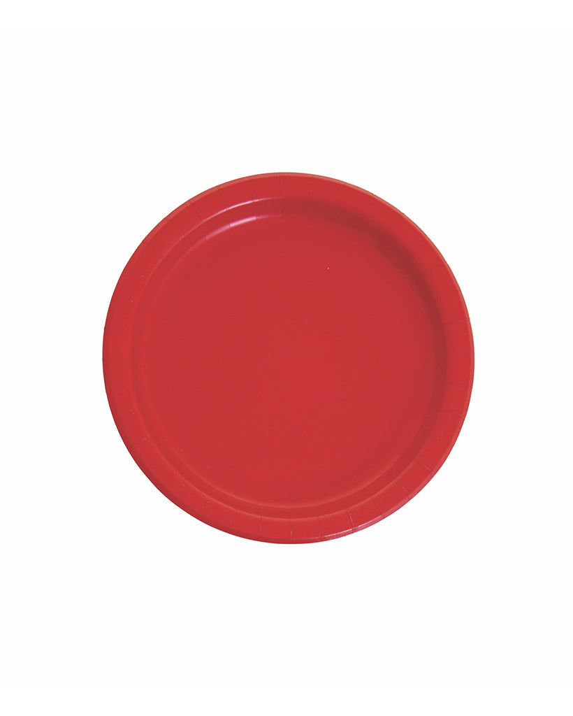 Small Red Paper Plates