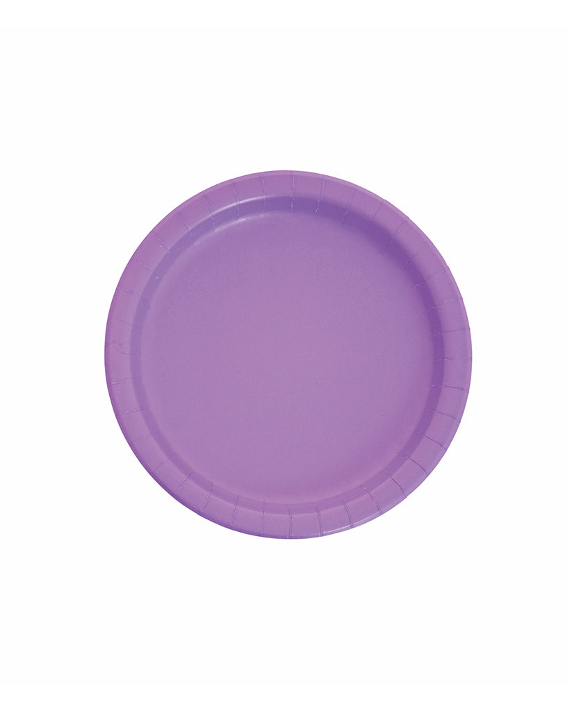 Small Amethyst Paper Plates