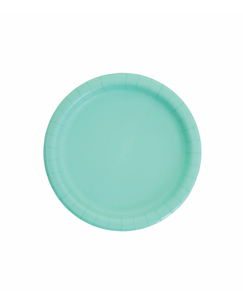 Small Mint Paper Plates