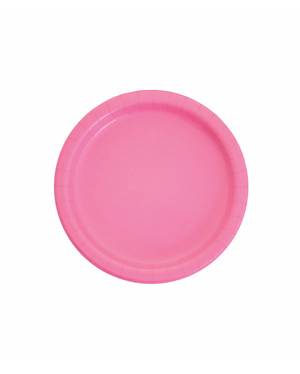 Small Candy Pink Paper Plates