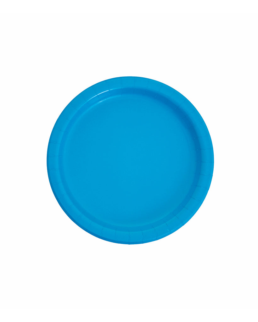 Small Mid Blue Paper Plates