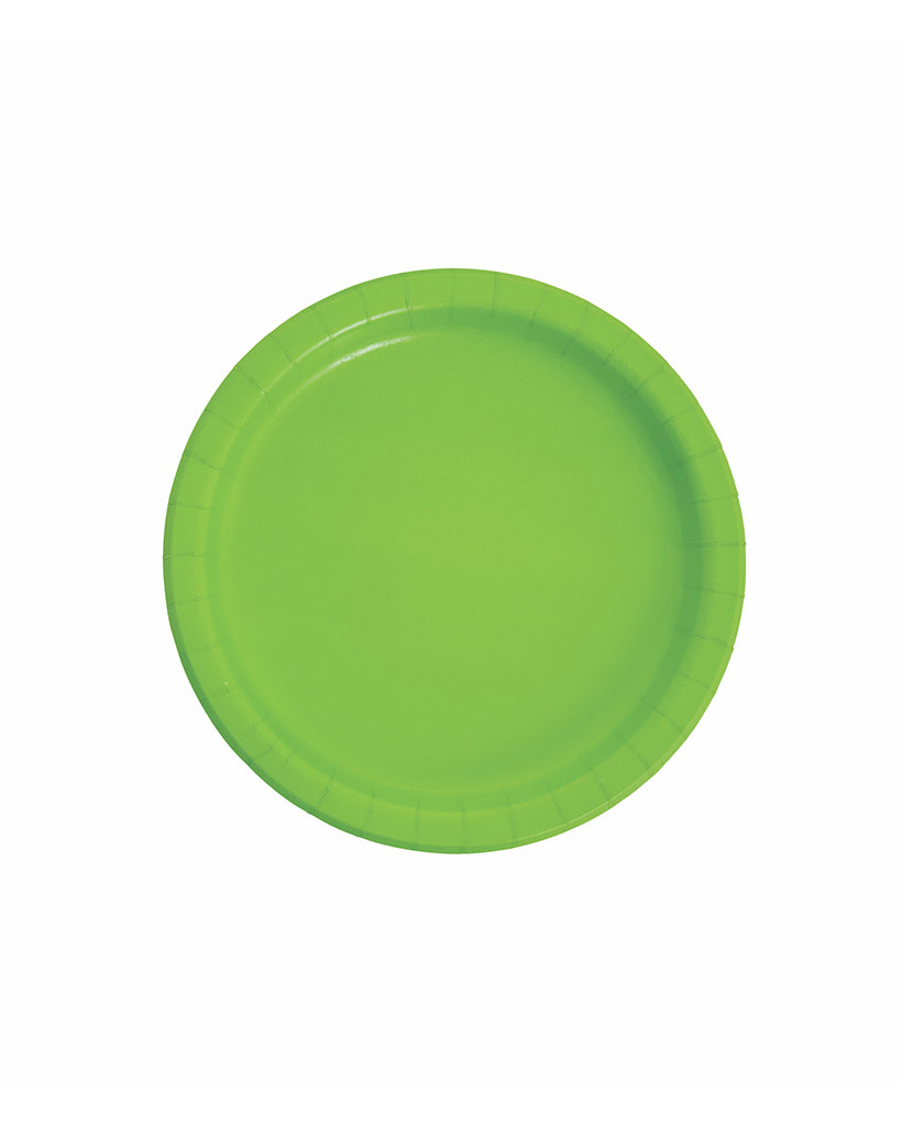 Small Lime Paper Plates