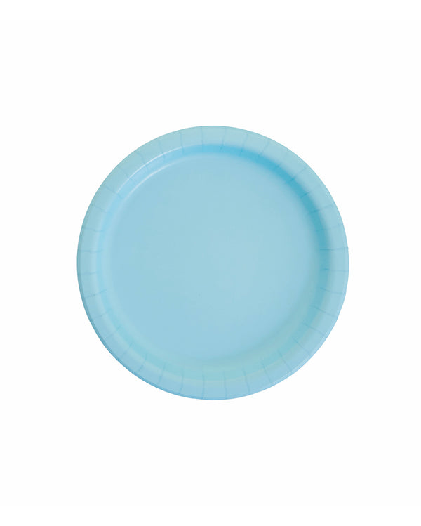 Small Pastel Blue Paper Plates