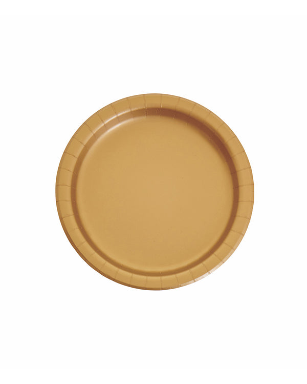 Small Gold Paper Plates