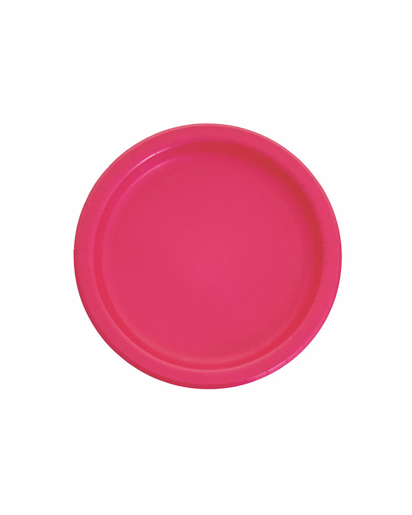 Small Magenta Paper Plates