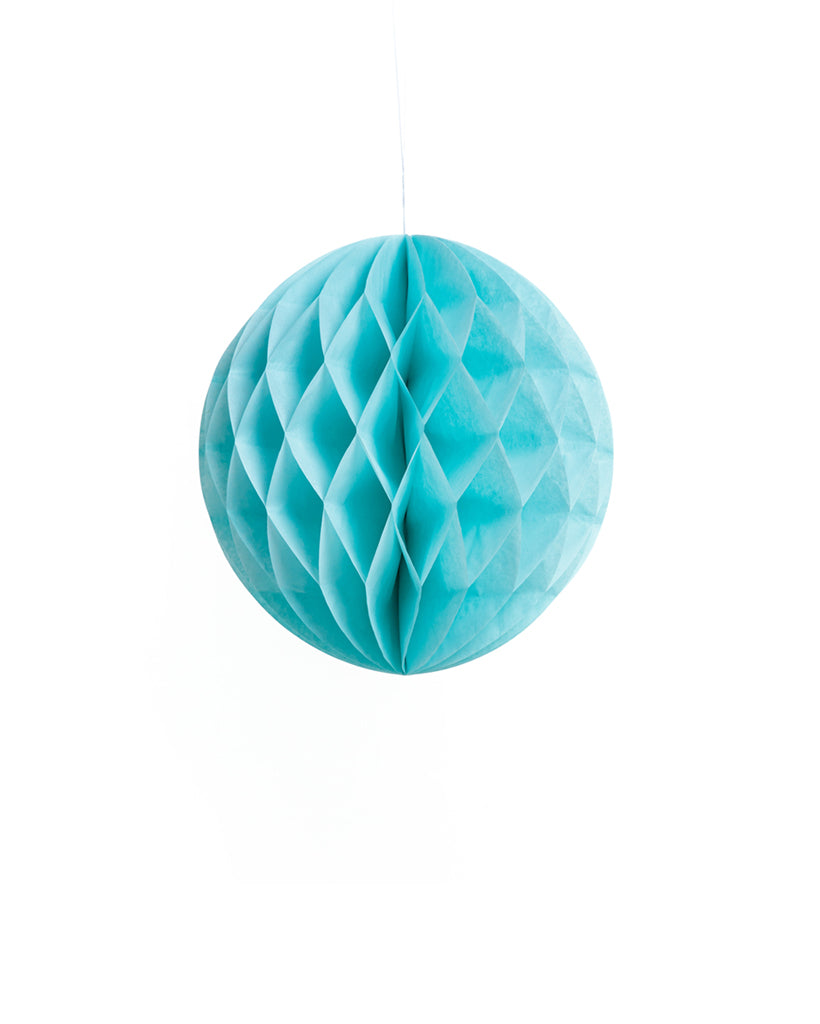 Small Light Blue Honeycomb Ball