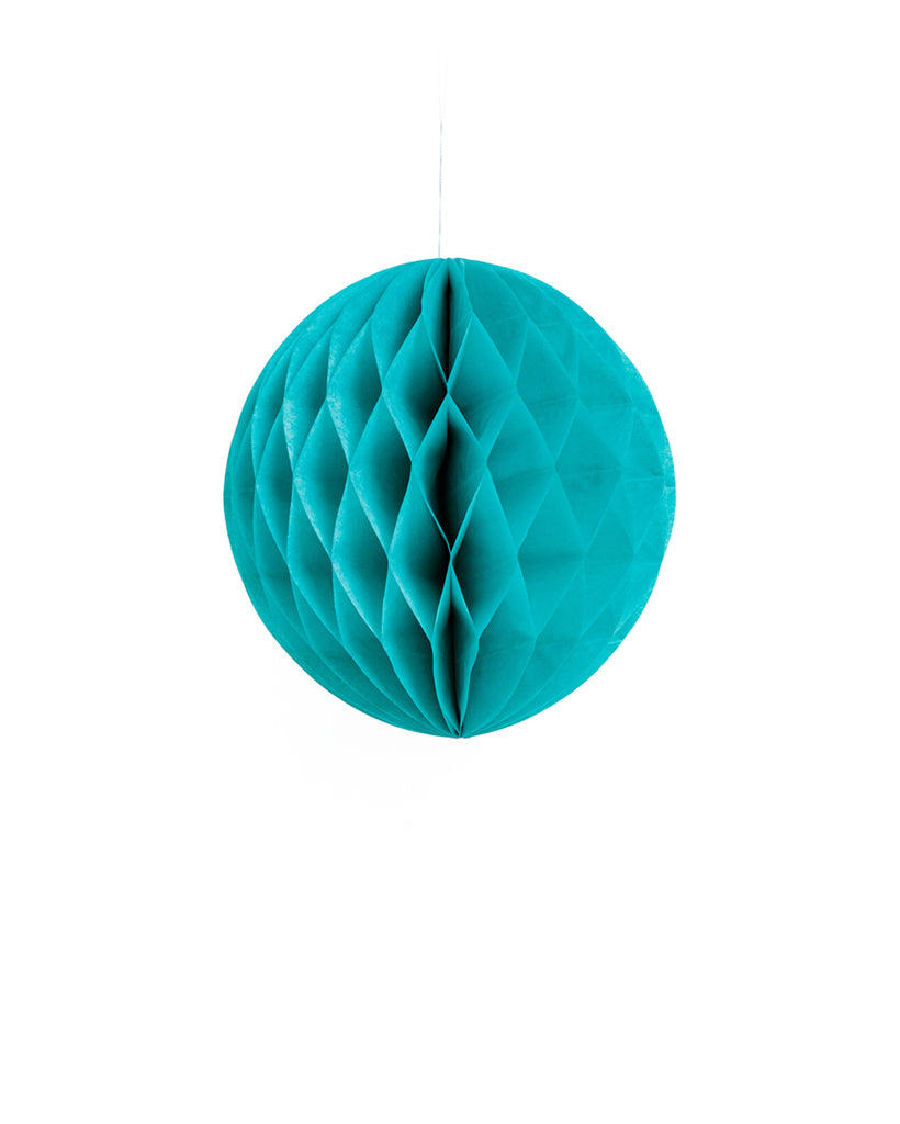 Small Teal Honeycomb Ball