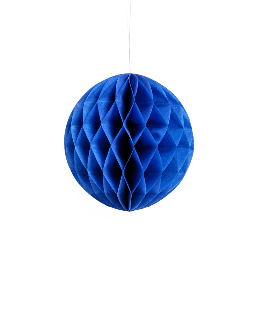 Small Navy Blue Honeycomb Ball