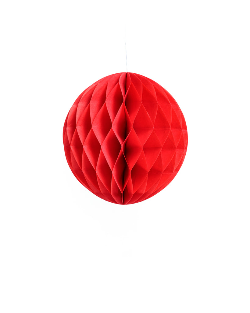 Small Red Honeycomb Ball
