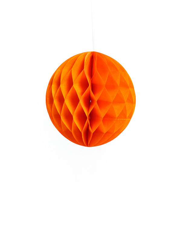 Small Orange Honeycomb Ball