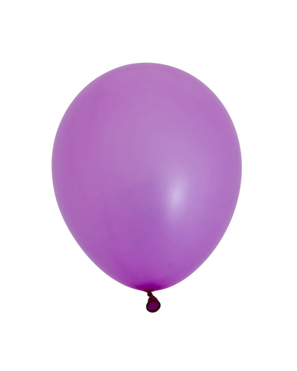 5 Flat Neon Violet Standard Balloons