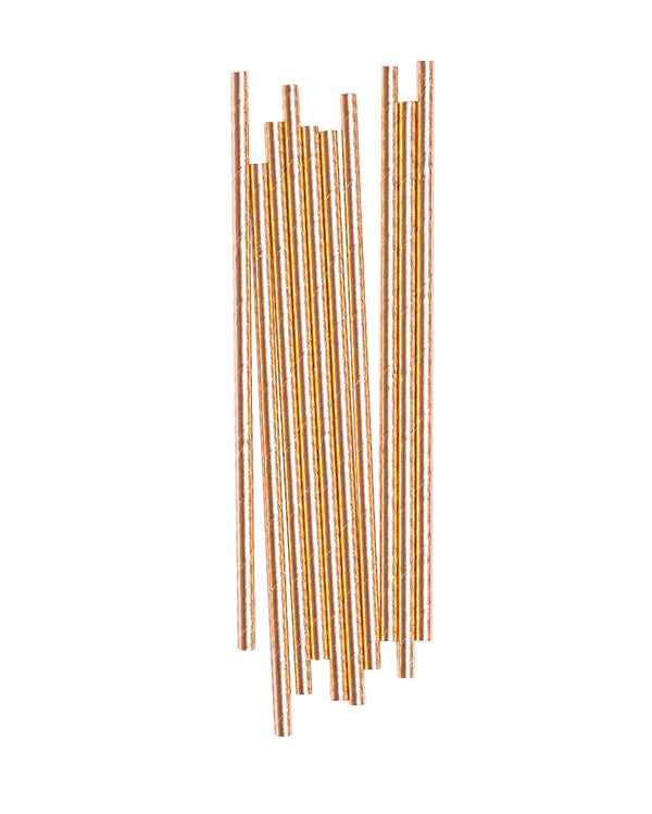 Rose Gold Straw Set