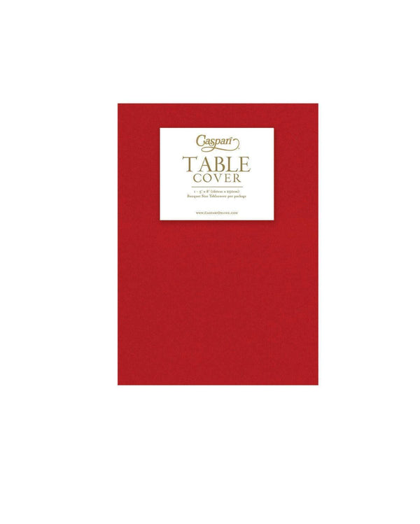 Red Paper Table Cloth